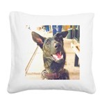 Dutch Shepherd Square Canvas Pillow