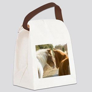 Horses Buddy Plan Canvas Lunch Bag