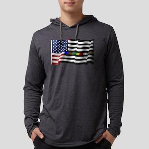 Thin Line Combo Flag Mens Hooded Shirt