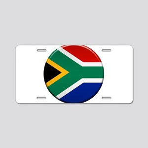 South African Button Aluminum License Plate