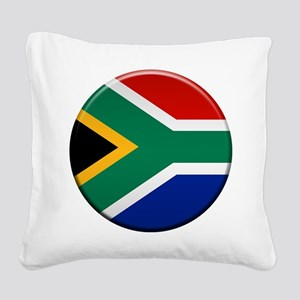 South African Button Square Canvas Pillow