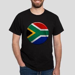 South African Button Dark T-Shirt