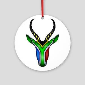 Springbok Flag Ornament (Round)