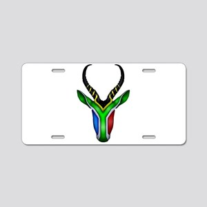 Springbok Flag Aluminum License Plate