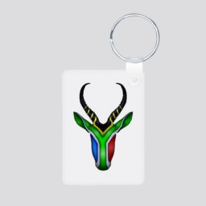 Springbok Flag Aluminum Photo Keychain