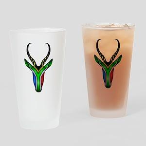 Springbok Flag Drinking Glass
