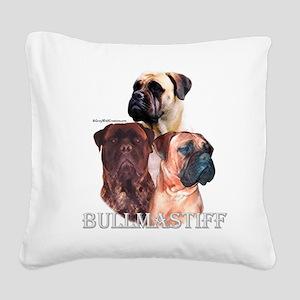 Bullmastiff 1 Square Canvas Pillow