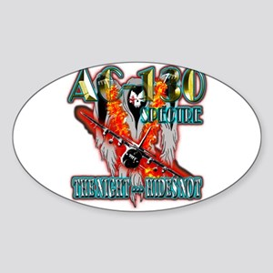 AC-130 Spectre The Night Hides Not Sticker (Oval)