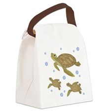 Sea Turtle Family Canvas Lunch Bag