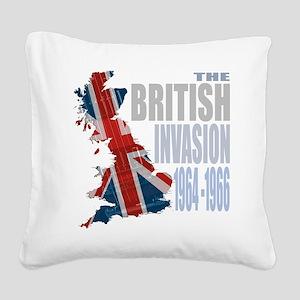 British Invasion Square Canvas Pillow