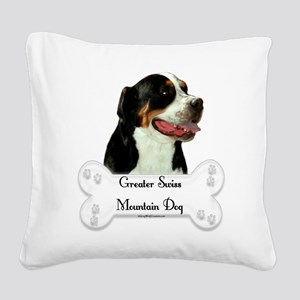 Swissy 1 Square Canvas Pillow