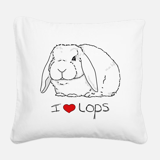 I Love Lops 2 Square Canvas Pillow