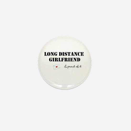 Long Distance Girlfriend Mini Button