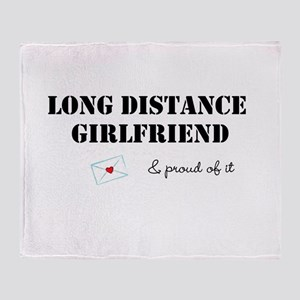 Long Distance Girlfriend Throw Blanket