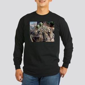 Cactus World Long Sleeve Dark T-Shirt