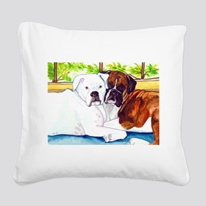 Krypta and Abbott Square Canvas Pillow