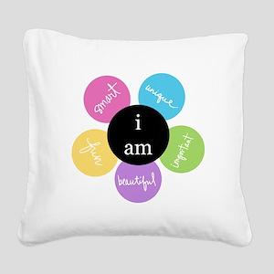 """i am..."" Square Canvas Pillow"