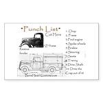 punch list Sticker (Rectangle 50 pk)