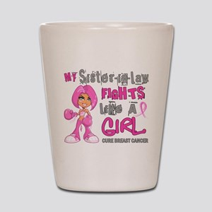 Licensed Fight Like A Girl 42.9 Breast Shot Glass
