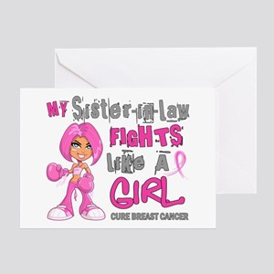 Licensed Fight Like A Girl 42.9 Brea Greeting Card