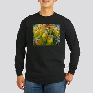 Prickly Cactus Long Sleeve Dark T-Shirt
