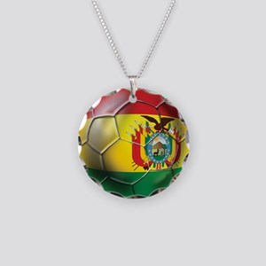 Bolivia Futbol Necklace Circle Charm