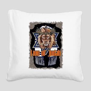 Lion of Judah 2 Square Canvas Pillow