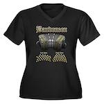 Bandoneon 2 Women's Plus Size V-Neck Dark T-Shirt