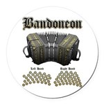 Bandoneon 2 Round Car Magnet