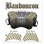 Bandoneon 2 Square Car Magnet 3