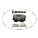 Bandoneon 2 Sticker (Oval 50 pk)