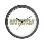 Butterfly with Sore Feet Wall Clock