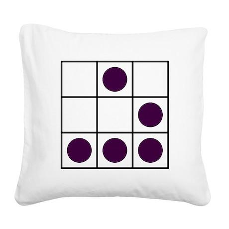 Hacker emblem Glider Square Canvas Pillow
