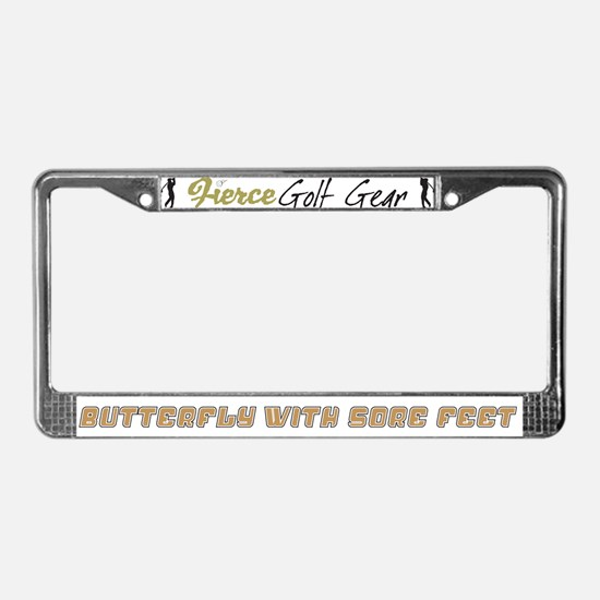 Butterfly with Sore Feet License Plate Frame