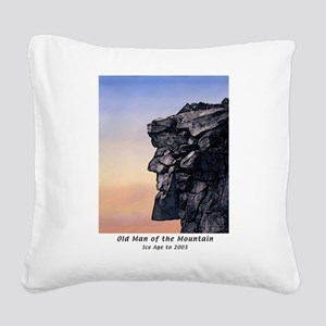 Old Man of the Mountain Dusk Square Canvas Pillow