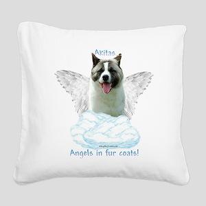 Akita 6 Square Canvas Pillow
