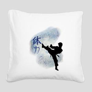 Power Kick 2 Square Canvas Pillow