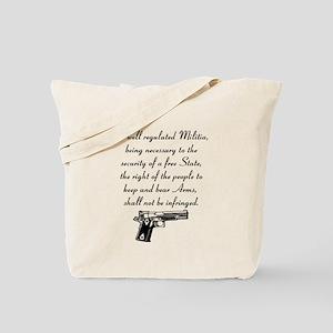 2nd Amendment Custom Tote Bag