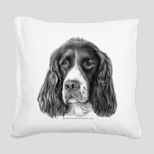 English Springer Spaniel Square Canvas Pillow