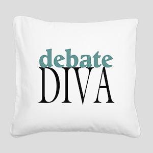 Debate Diva Square Canvas Pillow
