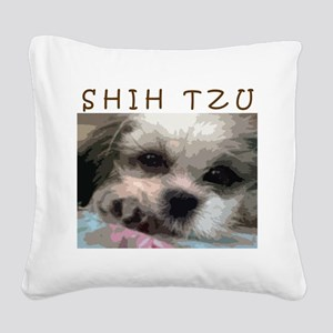 Shih Tzu Pop Art Matilda Square Canvas Pillow