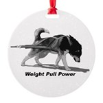 Weight Pull Power Round Ornament
