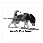 """Weight Pull Power Square Car Magnet 3"""" x 3"""""""