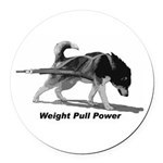 Weight Pull Power Round Car Magnet