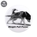 """Weight Pull Power 3.5"""" Button (10 pack)"""