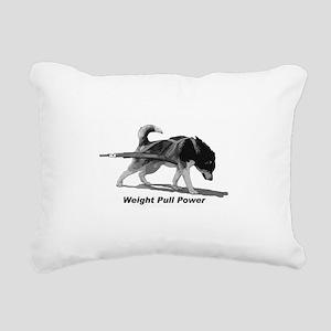 Weight Pull Power Rectangular Canvas Pillow