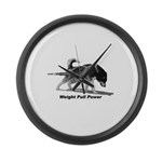 Weight Pull Power Large Wall Clock