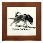 Weight Pull Power Framed Tile