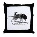 Weight Pull Power Throw Pillow