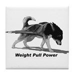 Weight Pull Power Tile Coaster